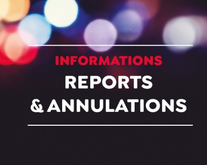 Annulations ou Reports